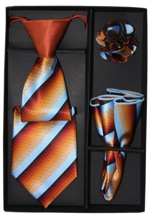 5 Second Tie Set with Design- 5ST-17014 5ST-17014