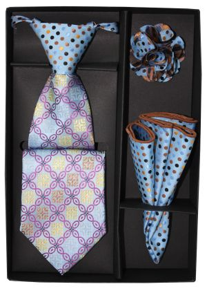 5 Second Tie Set with Design- 5ST-17022 5ST-17022
