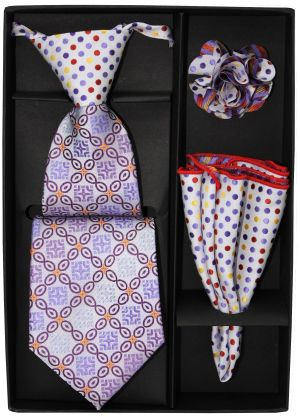 5 Second Tie Set with Design- 5ST-17023 5ST-17023