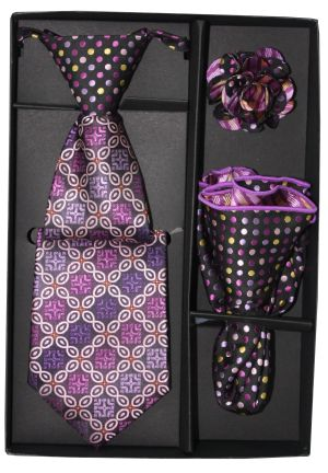 5 Second Tie Set with Design- 5ST-17025 5ST-17025