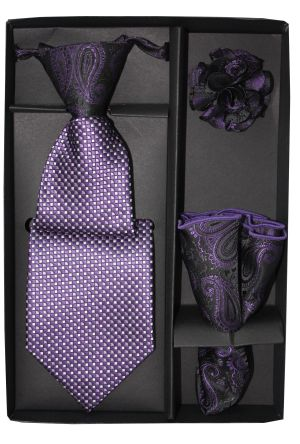 5 Second Tie Set with Design- 5ST-17040 5ST-17040