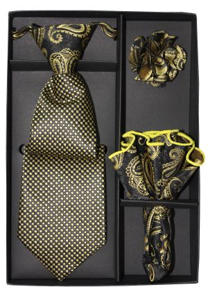 5 Second Tie Set with Design- 5ST-17041 5ST-17041