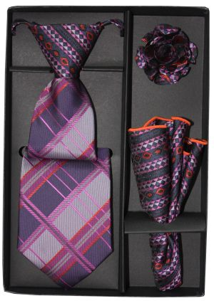 5 Second Tie Set with Design- 5ST-17044 5ST-17044