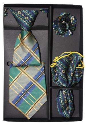 5 Second Tie Set with Design- 5ST-17045 5ST-17045