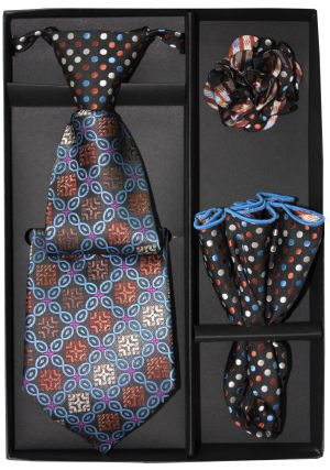 5 Second Tie Set with Design- 5ST-17026 5ST-17026