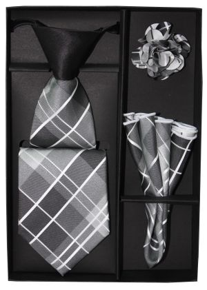 5 Second Tie Set with Design- 5ST-17029 5ST-17029