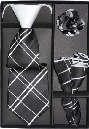 5 Second Tie Set with Design- 5ST-17032 5ST-17032