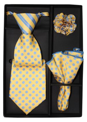 5 Second Tie Set with Design- 5ST-17035 5ST-17035