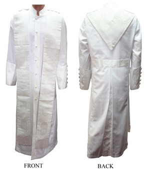 Cadillac Zipper Robe (pictured with stole) #cadillaczr