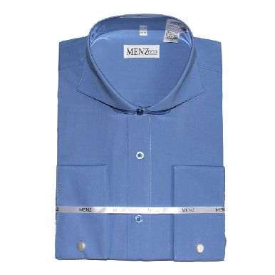 Cutaway Collar Shirts-French Blue SC002-cutawaysolid