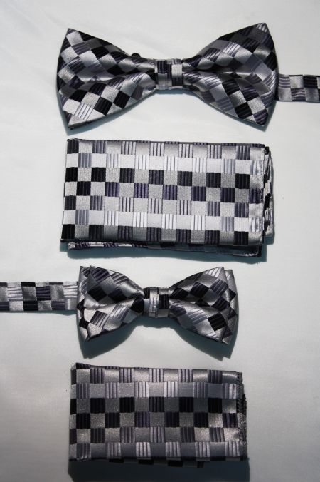 Father and Son Bow Tie and Hanky -FNS-15142 FNS-15142