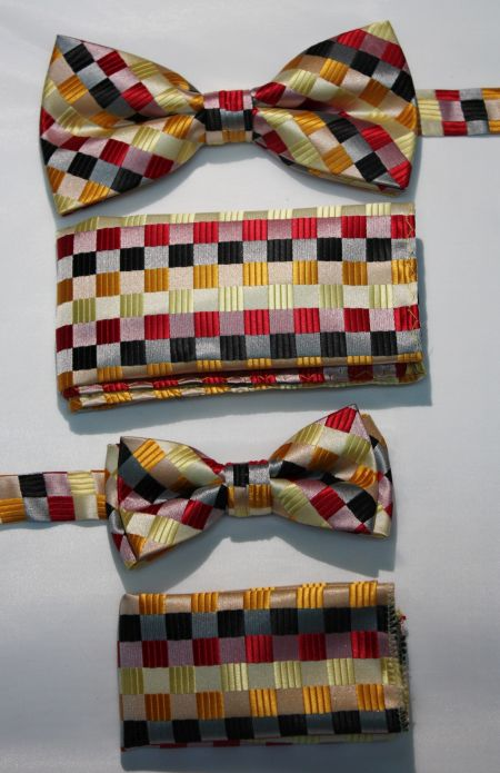 Father and Son Bow Tie and Hanky -FNS-15144 FNS-15144