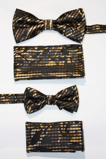 Father and Son Bow Tie and Hanky -FNS-15158 FNS-15158