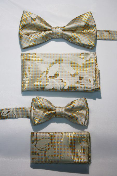 Father and Son Bow Tie and Hanky -FNS-15159 FNS-15159