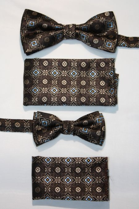 Father and Son Bow Tie and Hanky -FNS-15163 FNS-15163