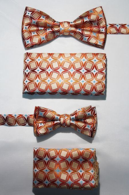 Father and Son Bow Tie and Hanky -FNS-15166 FNS-15166