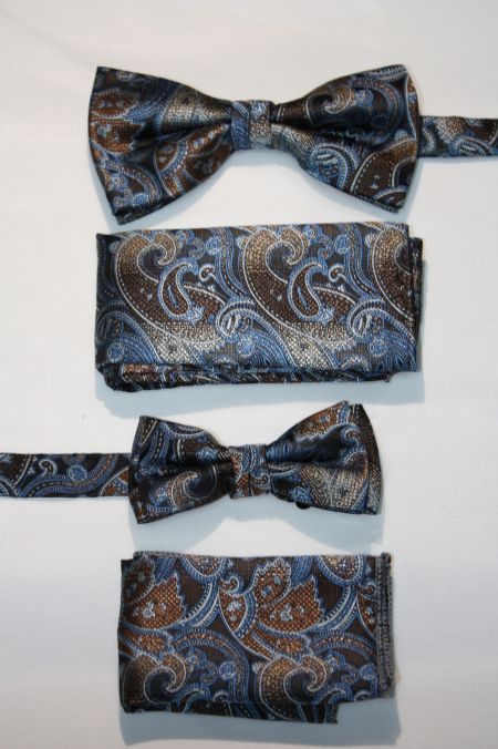 Father and Son Bow Tie and Hanky -FNS-15171 FNS-15171