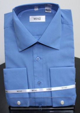 Menz French Cuff Dress Shirts-French Blue frenchblue
