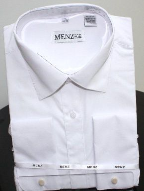 Menz French Cuff Dress Shirts-White white
