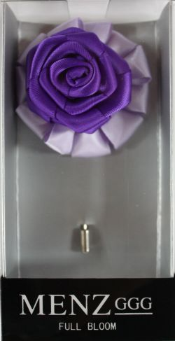 Full Bloom Lapel Flower-Lav-Purp LFB-Lav-Purp