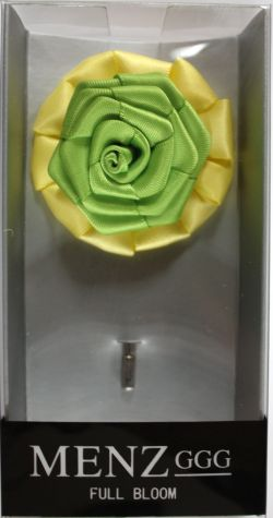 Full Bloom Lapel Flower-Lemon-Lime LFB-Lemon-Lime