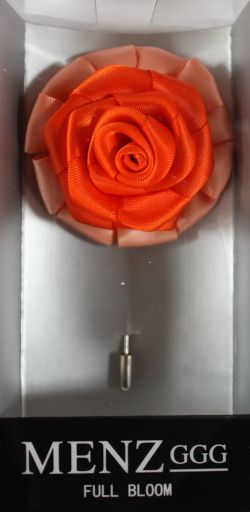 Full Bloom Lapel Flower-Melon-Orange LFB-Melon-Orange