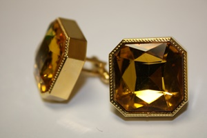 King Square Cuff Link 12-Yellow KSC12-Yellow