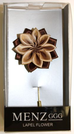 Lotus Lapel Flower 05 TAN LLF-05-TAN