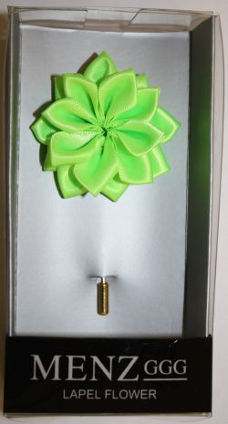 Lotus Lapel Flower 10  LIME LLF-10-LIME