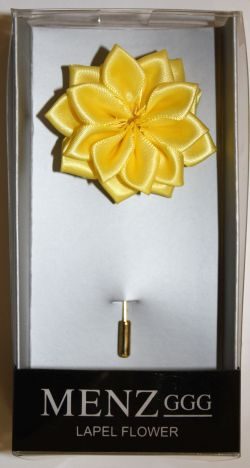 Lotus Lapel Flower 20 LEMON LLF-20-LEMON