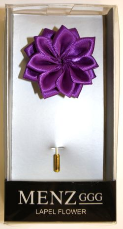 Lotus Lapel Flower 21 PURPLE LLF-21-PURPLE