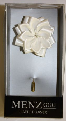 Lotus Lapel Flower 22 WHITE LLF-22-WHITE