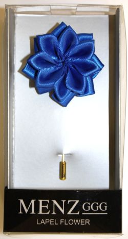 Lotus Lapel Flower 23 R. BLUE LLF-23-R.BLUE