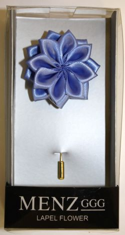 Lotus Lapel Flower 24 P. BLUE LLF-24-P.BLUE