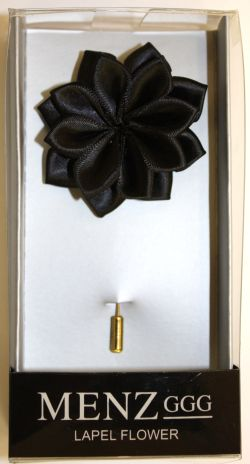 Lotus Lapel Flower 27 BLACK LLF-27-BLACK