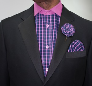 Shirt ,Hanky and Lapel Flower- GS42 GS42