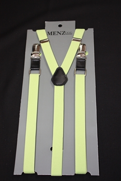 Skinny Suspenders Apple Green SSAppleGreen