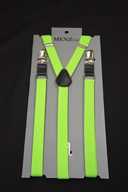 Skinny Suspenders Neon Green SSNeonGreen