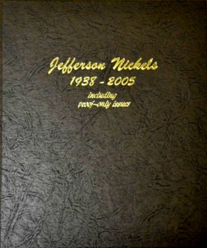 Dansco Album Jefferson Nickels 1938-2005S including proofs #DN8113