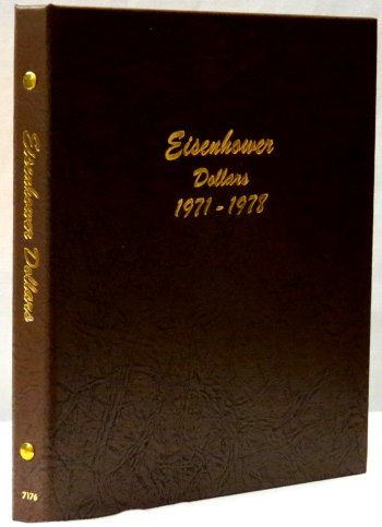 Dansco Album Eisenhower Dollars 1971-1978 #DN7176