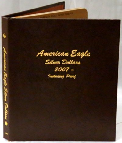 Dansco Album American Silver Eagle Dollars 07-10 including proofs; includes 2 blank pages #DN8182