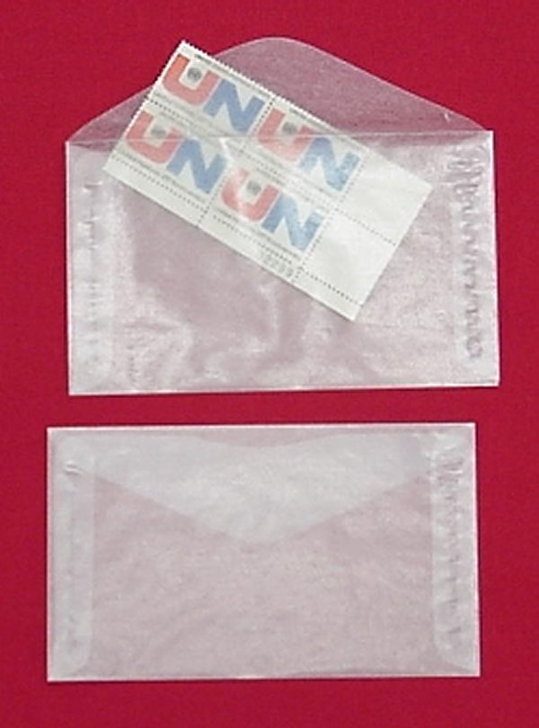 No. 4 -Glassine Envelopes - 100 per PACK #GL4PP