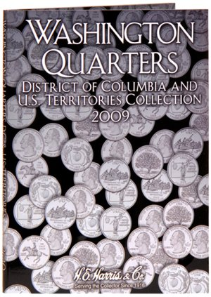 HE Harris Coin Folder DC  TERR Quarter Folder No. 3, 2009 PD #HECF2640