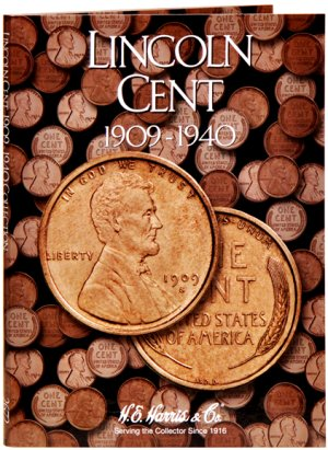 HE Harris Coin Folder Lincoln Cent No. 1, 1909-1940 #HECF2672