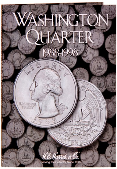 HE Harris Coin Folder Washington Quarters No. 4, 1988-1998 #HECF2691