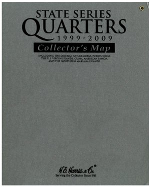 HE Harris Statehood  Territory Quarter Map - Gray HEMAP