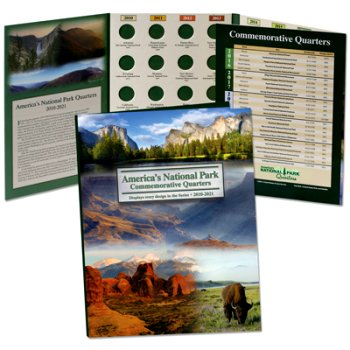 Littleton National Park Quarters Folder 7x10 Color, 2010-21 - DS LCF40D
