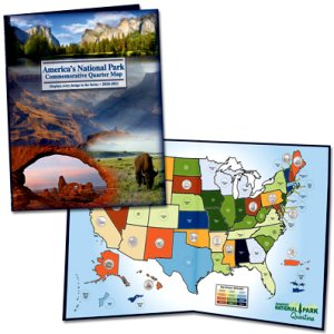 Littleton National Park Quarters Map - Traditional, 2010-2021 LCLGB2D