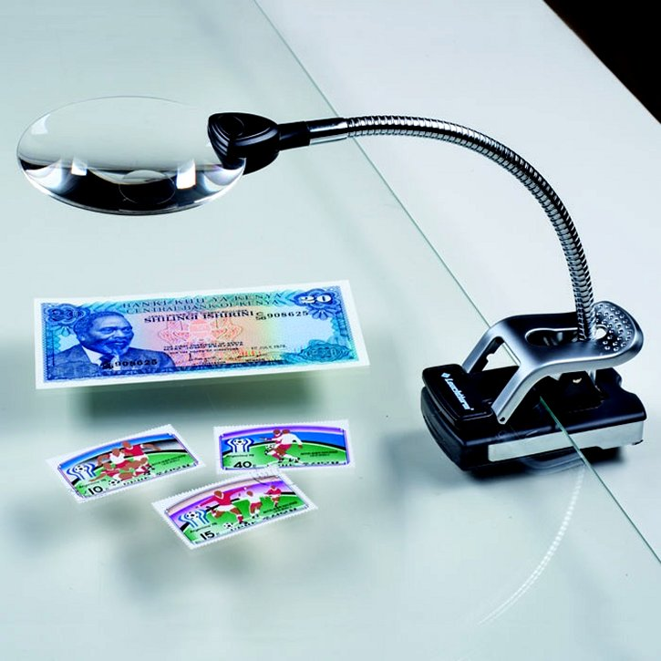 Table Magnifier with adjustable arm, 2.5x magnification #LHMAGLU161