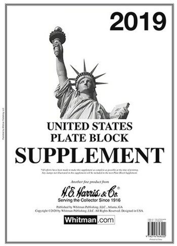 H.E.Harris U.S. Plate Block 2019 Supplement HEUSPB19